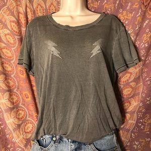 lightning bolt gray t-shirt